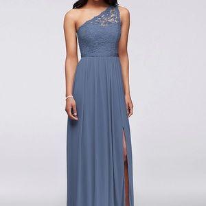 David's bridal bridesmaid dress (Steel blue)